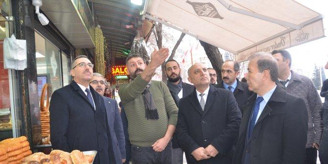Hayrettin Güngör, Trabzon Caddesi Esnaflarını Ziyaret Etti