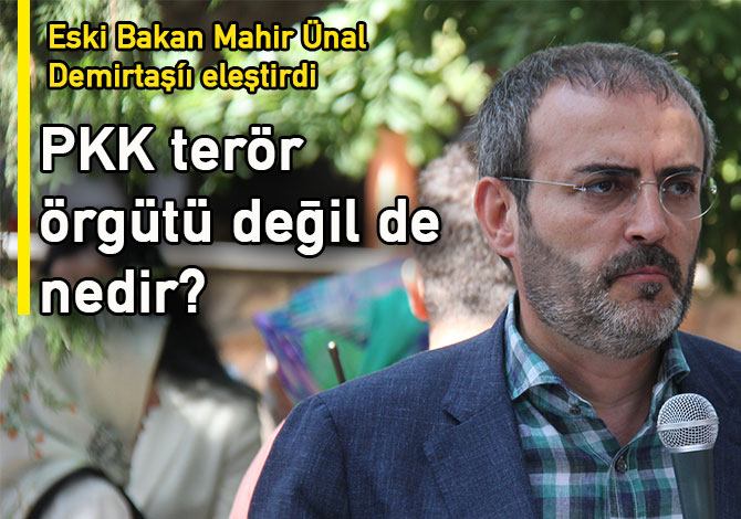 """Ünal: """"PKK terör örgüte değil de nedir?"""