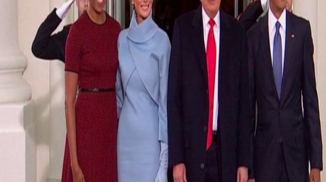 Trump Beyaz Saray'a geldi