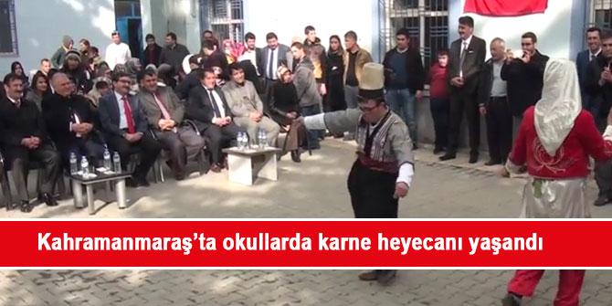 Kahramanmaraş'ta okullarda karne heyecanı yaşandı