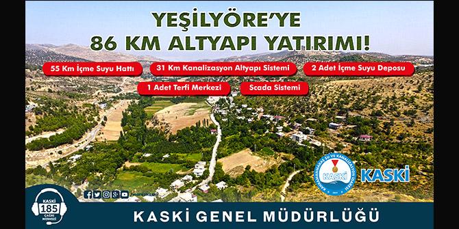 YEŞİLYÖRE'YE 86 KM ALTYAPI YATIRIMI
