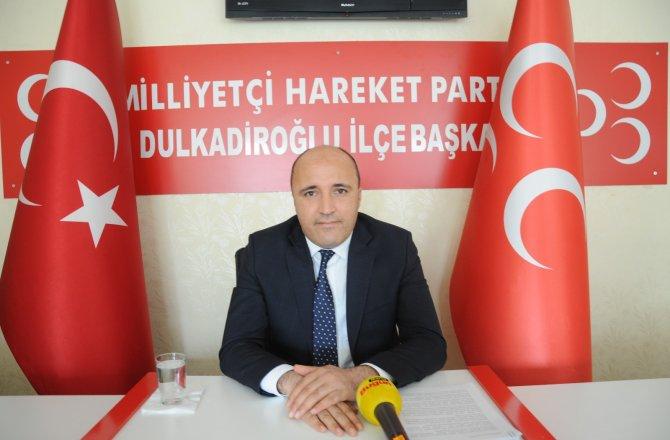 İlçe Başkanı Mustafa Akpınar, MHP ve AK Parti ittifakı yok!