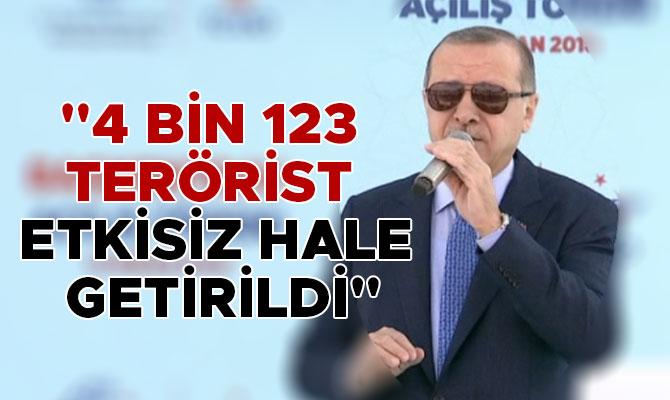 """""""4 BİN 123 TERÖRİST ETKİSİZ HALE GETİRİLDİ"""""""