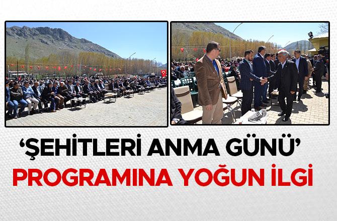 'ŞEHİTLERİ ANMA GÜNÜ' PROGRAMINA YOĞUN İLGİ