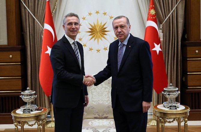 ERDOĞAN, NATO GENEL SEKRETERİNİ KABUL ETTİ