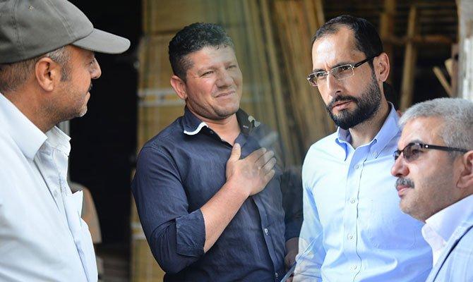 Mehmet Cihat Sezal sanayi sitesi esnaflarından destek istedi