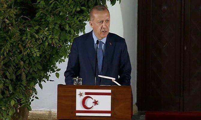 Erdoğan KKTC'de net konuştu: Asla izin verilmeyecek