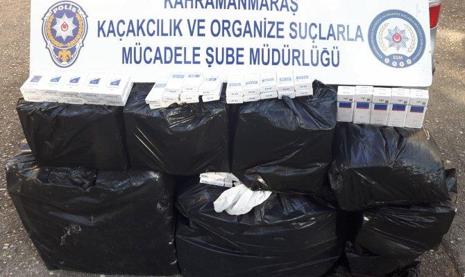Kahramanmaraş'ta bin 920 paket kaçak sigara ele geçirildi