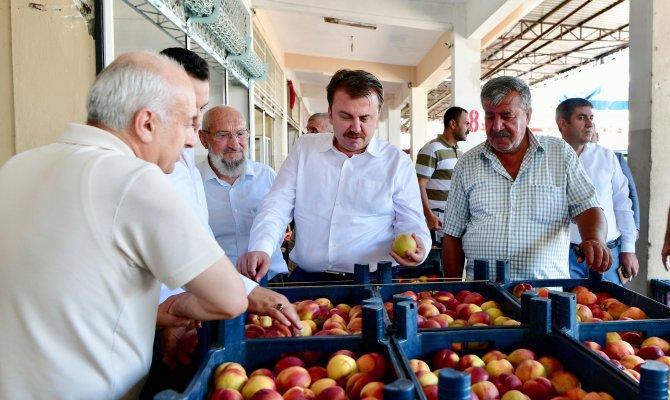 Başkan Erkoç Hal Esnaflarının Derdini Dinledi