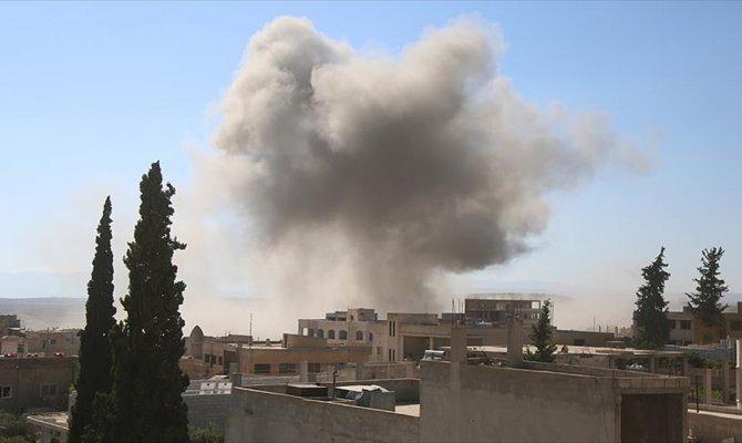 Esed rejiminden İdlib'e topçu saldırısı
