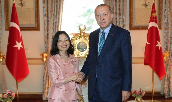 Erdoğan Japonya Prensesi ile görüştü
