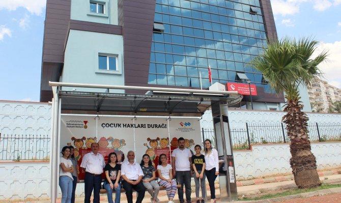 Kahramanmaraş'ta çocuk hakları durağı yapıldı