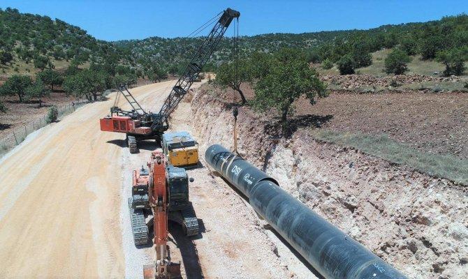 Kahramanmaraş'tan Gaziantep'e su getirecek proje bitiyor
