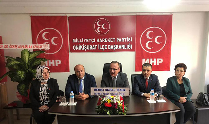 Kahramanmaraş Onikişubat MHP'de yeni yönetim belli oldu