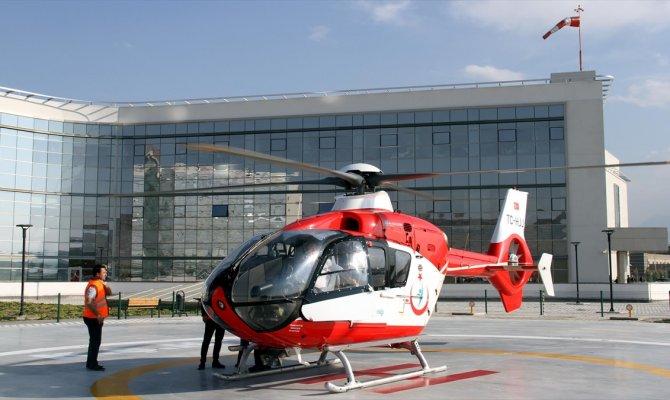 Kayseri Şehir Hastanesi'nde hava ambulans hizmeti başladı