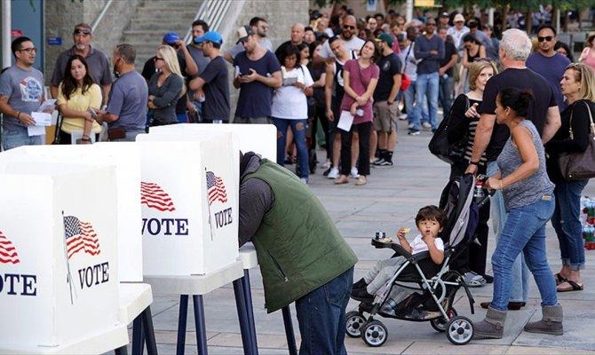 ABD'de en az 34 milyon seçmen erken oy kullandı