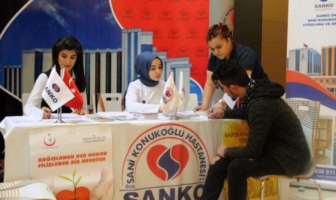 Organ Nakli Merkezi Ekibi, Sanko Park Avm'de Bilgilendirme Yapıyor