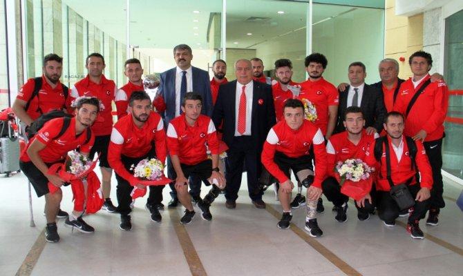 Ampute Milli Takımı Ankara'ya geldi