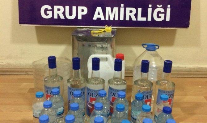 Elbistan polisinden kaçak içki operasyonu