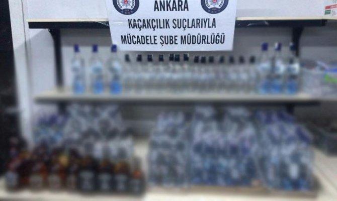 Ankara'da kaçak içki operasyonu: 22 gözaltı
