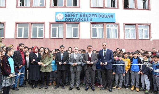Şehit Abuzer Doğan'ın ismi Türkoğlu'nda okula verildi
