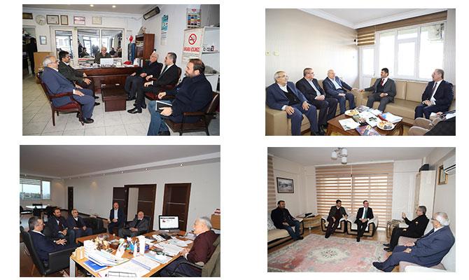 Ak Parti adayı Güngör Belediye eski Başkanlarını ziyaret etti