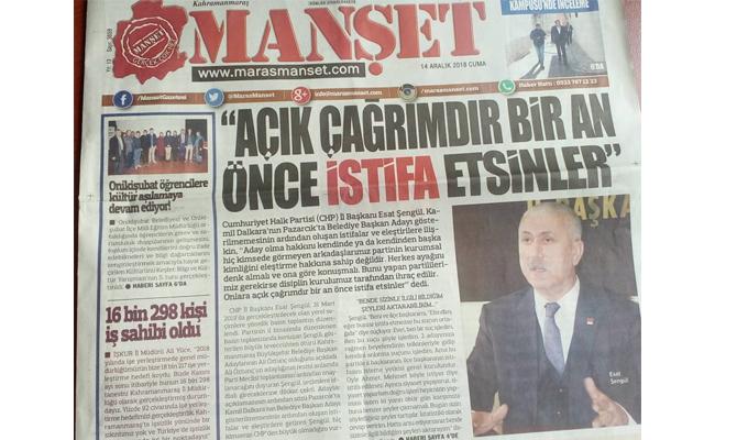 CHP İl Başkanı, Hiç Kimse Partinin Kurumsal Kimliğini Eleştirmez
