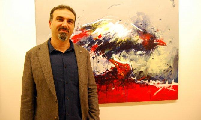 Ressam Murat Oğuz 9'uncu Kişisel Resim Sergisini Açtı