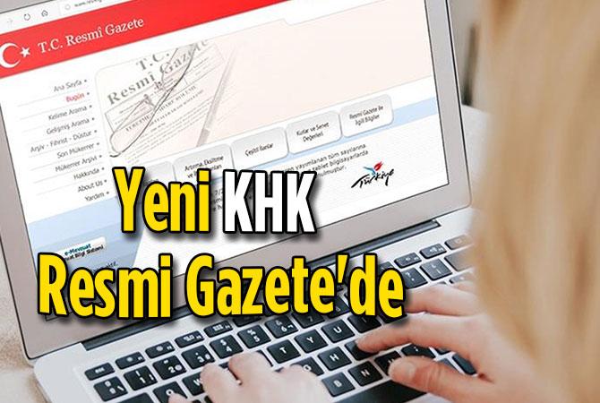 Yeni KHK Resmi Gazete'de