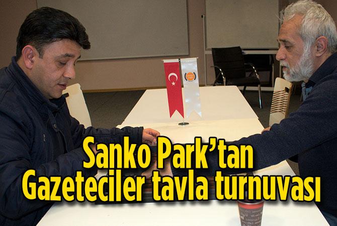 Sanko Park'tan Gazeteciler tavla turnuvası
