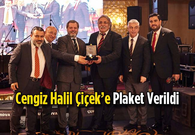Sanko Holding Basın  Yayın Müdürü Cengiz Halil Çiçek'e Plaket Verildi