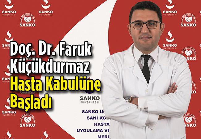 Doç. Dr. Faruk Küçükdurmaz Hasta Kabulüne Başladı