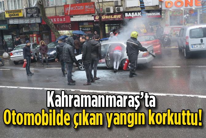 Otomobilde çıkan yangın korkuttu!