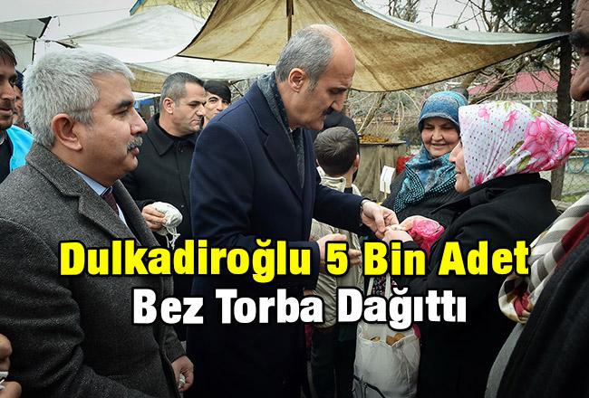 Dulkadiroğlu 5 Bin Adet Bez Torba Dağıttı