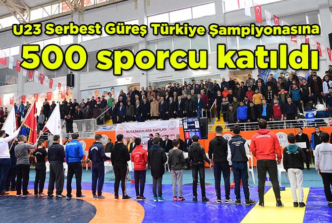 U23 Serbest Güreş Türkiye Şampiyonasına 500 sporcu katıldı