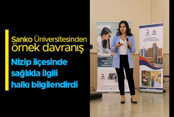 Sanko Üniversitesi Nizip'te sağlık toplantısı yaptı