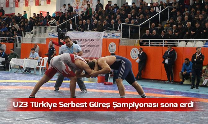 U23 Türkiye Serbest Güreş Şampiyonası sona erdi