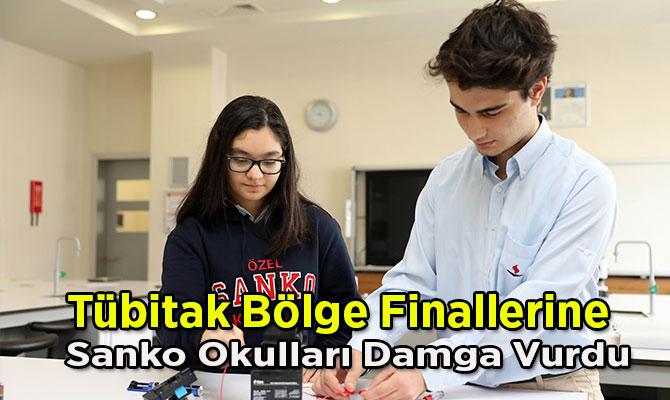 Tübitak Bölge Finallerine Sanko Okulları Damga Vurdu