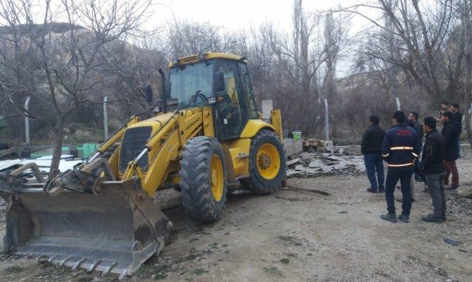 Kapadokya'da 14 kaçak yapının yıkımı tamamlandı
