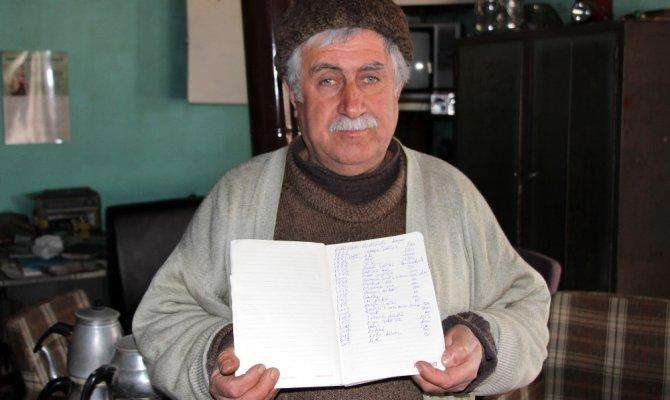 2 yılda verdiği borçları deftere yazdı fakat geri alamadı