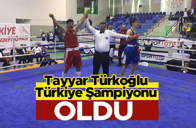 Tayyar Türkoğlu Türkiye Şampiyonu oldu