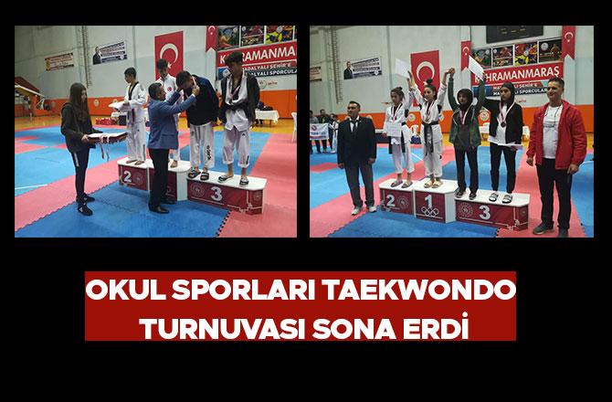 Okul Sporları Taekwondo Turnuvası Sona Erdi