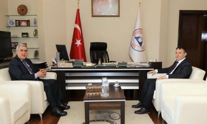 Rektörü Can, Kayseri Erciyes Üniversitesi Rektörü Çalış'ı Ziyaret Etti
