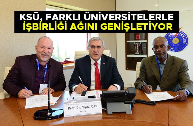 KSÜ, Farklı Üniversitelerle İşbirliği Ağını Genişletiyor