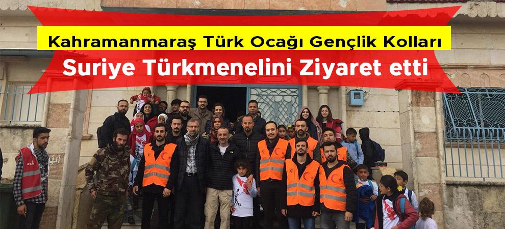 Kahramanmaraş Türk Ocağı Gençlik Kollarından Suriye Türkmeneline Ziyaret