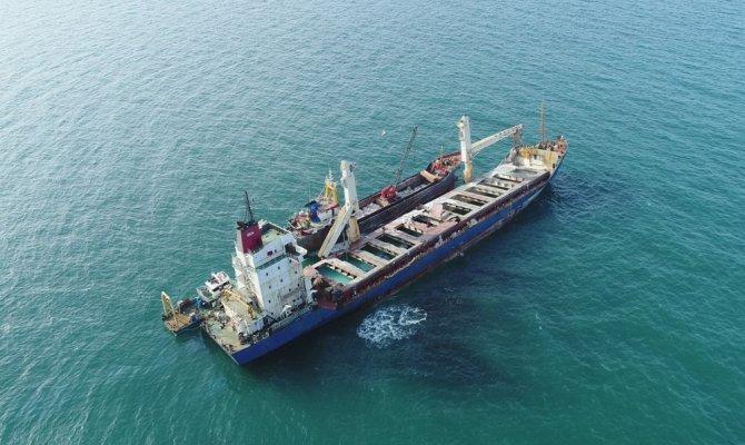 Karaya oturan gemiyi kurtarma çalışmalarında son durum