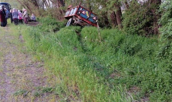 Afşin'de traktörden kopan römorktaki tarım işçileri ölümden döndü