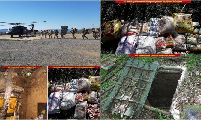 PKK'lı teröristlere ait 43 kış sığınağı imha edildi