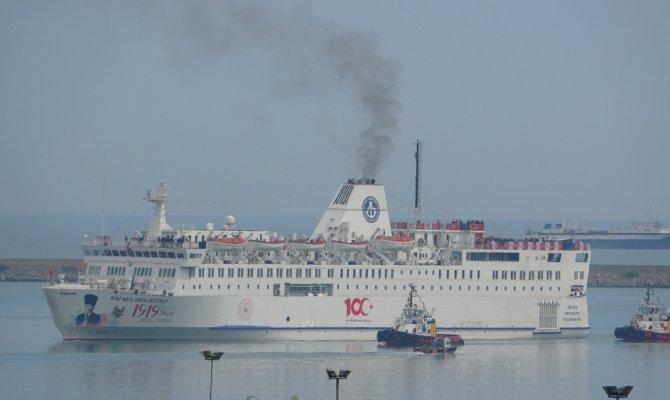 O gemi Samsun'da