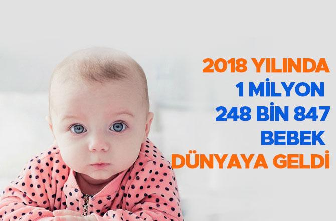 2018 yılında 1 milyon 248 bin 847 bebek dünyaya geldi